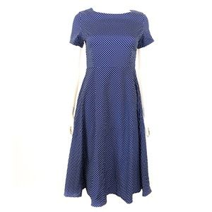 True Vintage handmade blue/white dotted dress